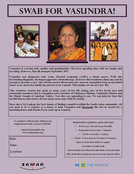Appeal To South Asian Community To Help Save Vasundra