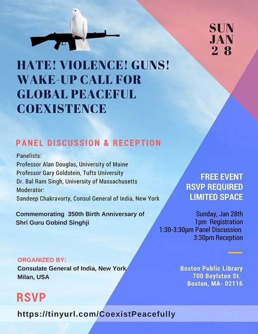 Hate! Violence! Guns! Wake-up Call For Global Peaceful Coexistence