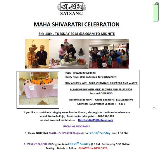 Maha Shivaratri And Vasant Panchmi At Satsang Center