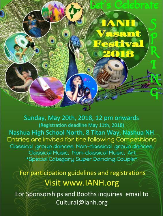 IANH Vasant Festival 2018 Arriving Soon!