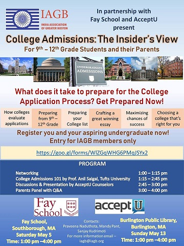 College Preparation Workshops