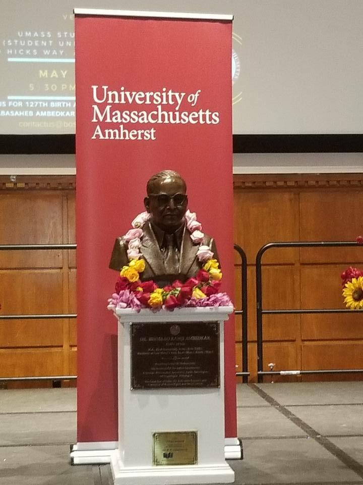 Dr. B.R. Ambedkar's Bust Unveiled At UMass-Amherst