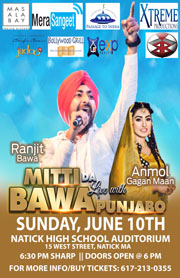 Ranjit Bawa & Anmol Gagan Concert In Boston