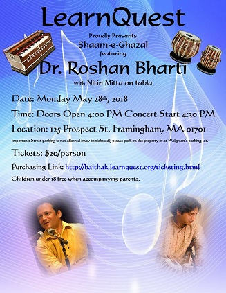 LearnQuest Presents Shaam-e-Ghazal By Dr. Roshan Bharti