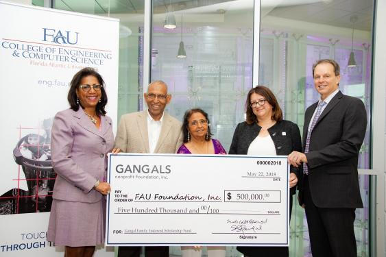 Gangal Family Donates $500K To Florida Atlantic University