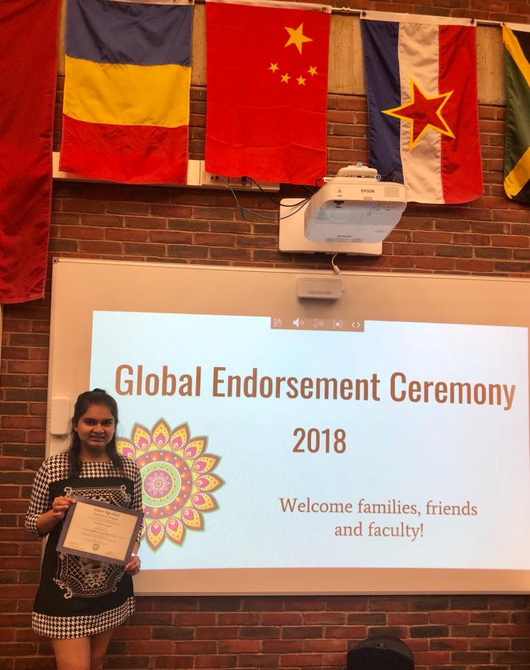 Neeharika Munjal Is Global Scholar