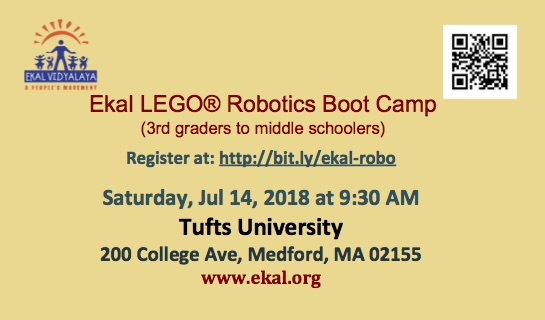 Learn The Basics Of LEGO® Robotics And Raise Money For Ekal!