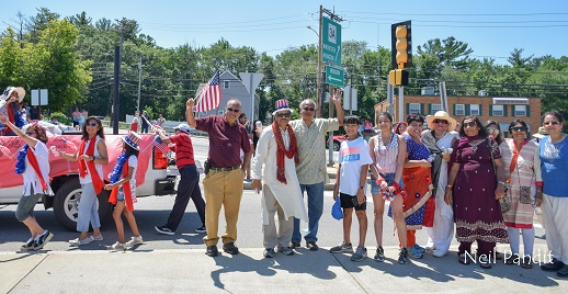 Indian Americans For Burlington (IAB) Participates In Annual Burlington Pride Parade