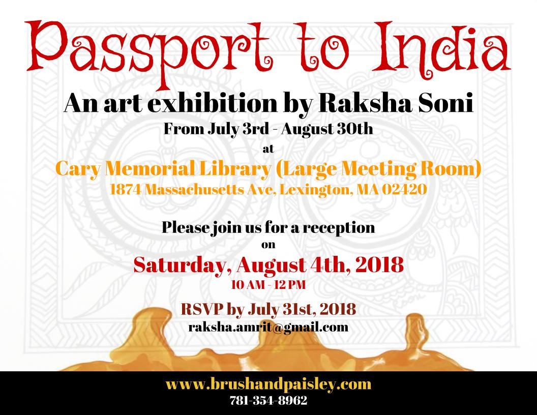 Passage To India: Art Exhibition/Reception