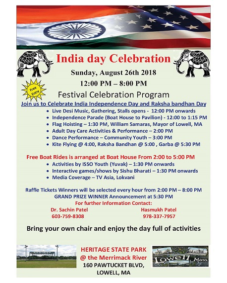India Day Celebrations In Lowell