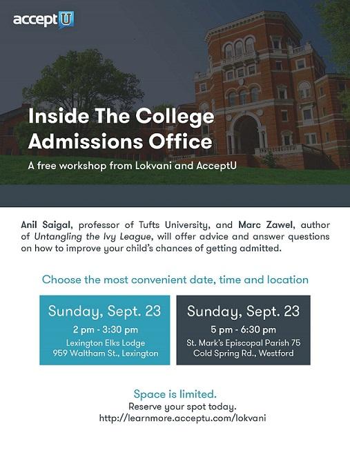 Lokvani College Admissions Workshops