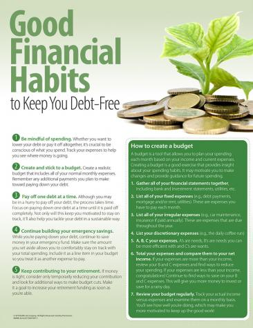 Good Financial Habits To Keep You Debt-Free