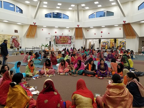 Karwa Chauth Celebrations At NESSP Groton Sai Temple
