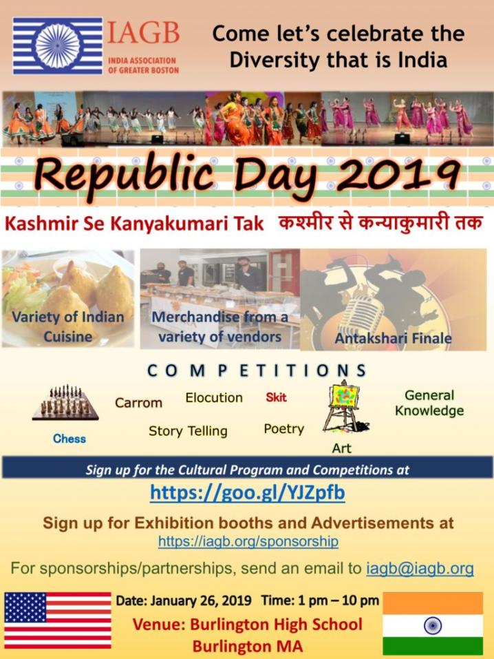 IAGB Ready To Celebrate Republic Day On January 26, 2019
