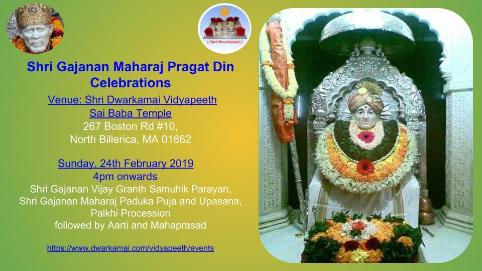 Shri Gajanan Maharaj Pragat Utsav Celebrations