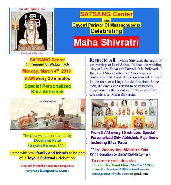 Shivratri Celebrations At Satsang Center