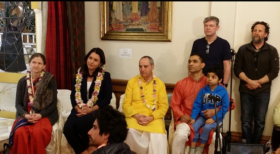 Tulsi Gabbard Visits ISKCON Boston