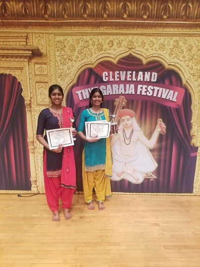Rajan Sisters Win At The Cleveland Aradhana Dance Competition