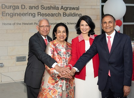 Engineering Building At The University Of Houston Renamed After Dr. Durga And Sushila Agrawal