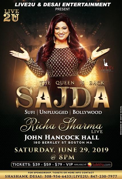 SAJDA - Richa Sharma Live In Concert
