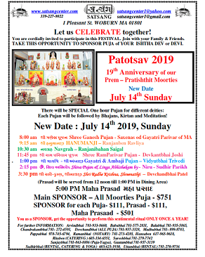 Satsang Center: Patotsav 2019