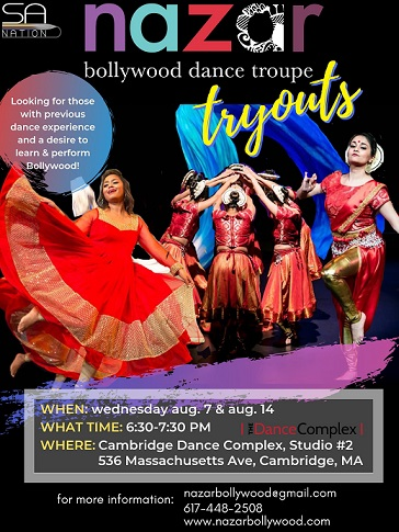 Nazar Bollywood Dance Troupe Tryouts