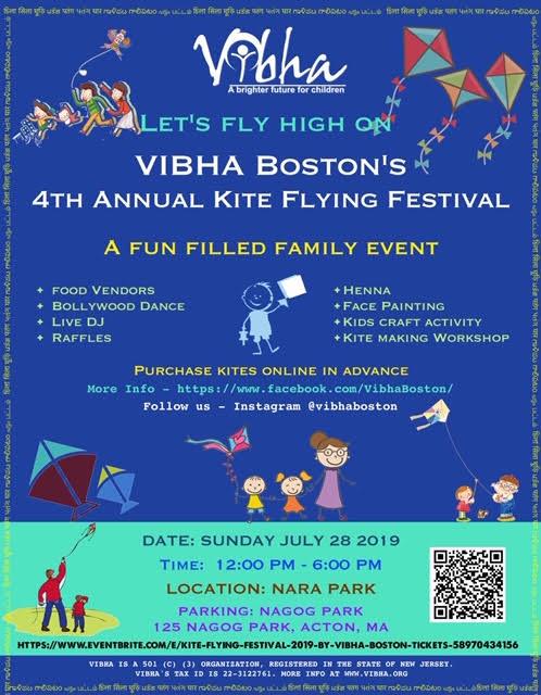 Vibha Hosts Kite Flying Event
