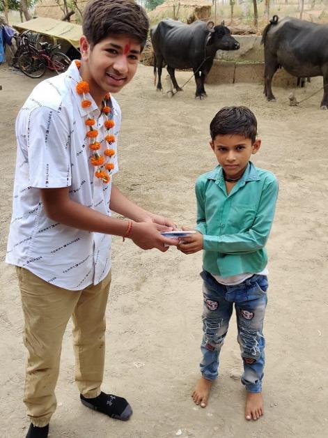 Ekal Vidyalaya Visit: Aryan Kumar
