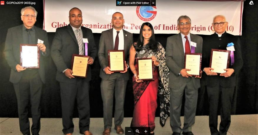 GOPIO-CT Honors Six Indian American Achievers At Its 13th Annual Awards Banquet In Stamford