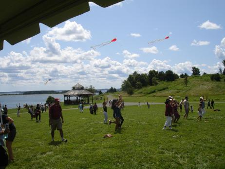 Kite Flying Brings AIF Enthusiasts To Spectacle Island