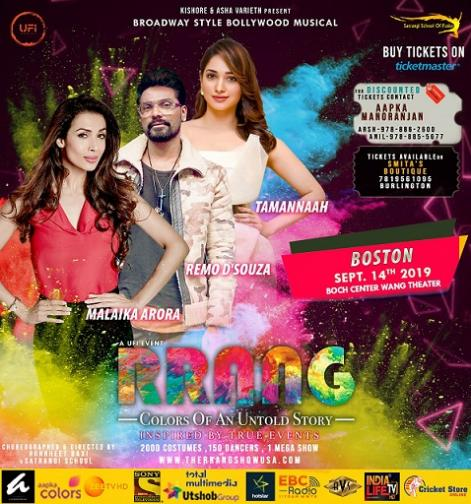 RRANG: A Broadway Style Large Scale Theatrical Bollywood Production