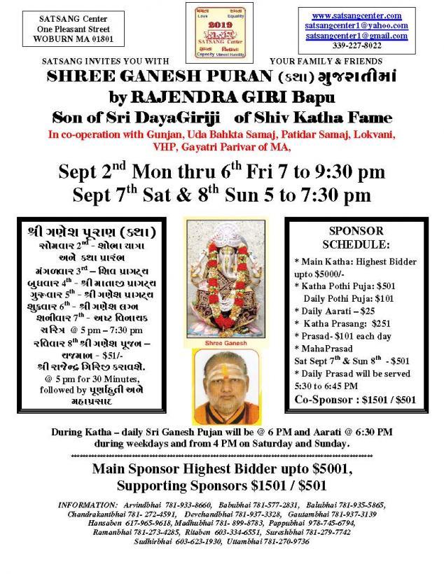 Shree Ganesh Puran At Satsang Center