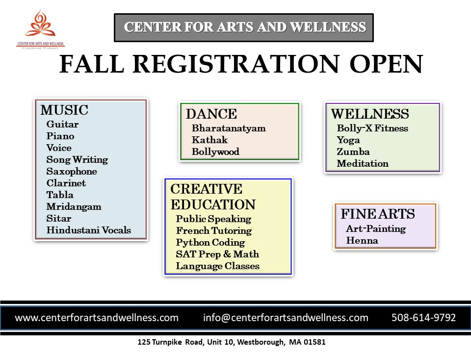 Registration Open For Fall Classes At The Center For Arts And Wellness