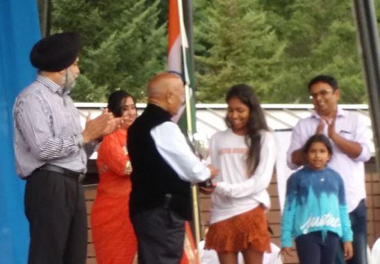 Riya Singh Receiving RISE Award For Her Achievement In Tennis By RANA