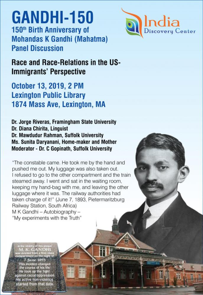 Gandhi-150: Panel Discussion On Race-Relations In The US