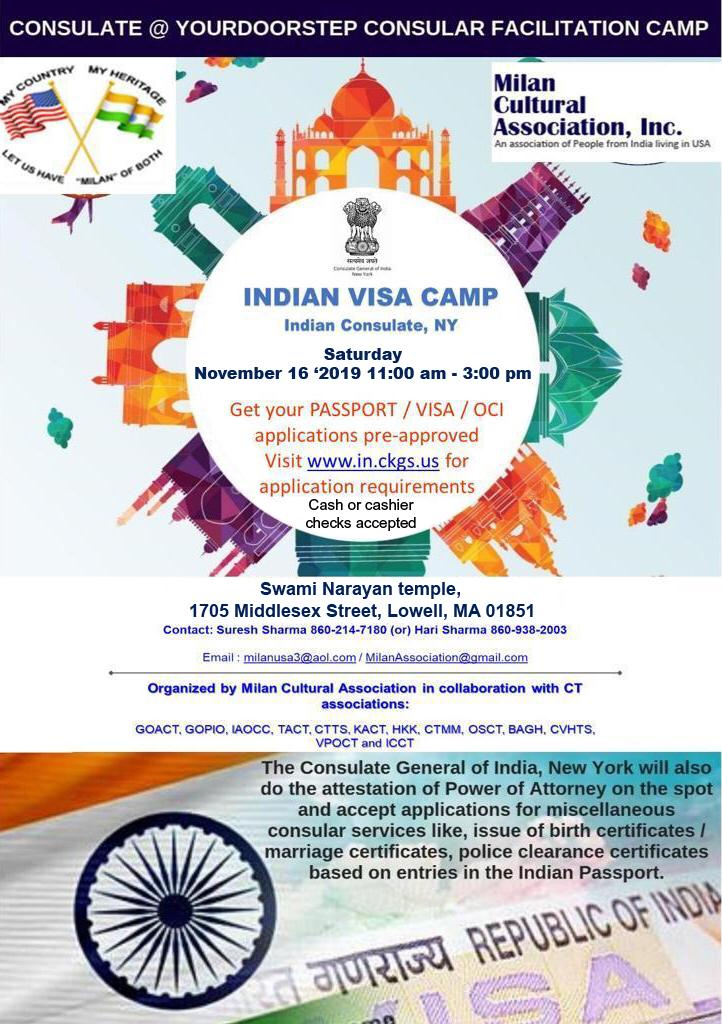 India Visa, OCI And Passport Camp