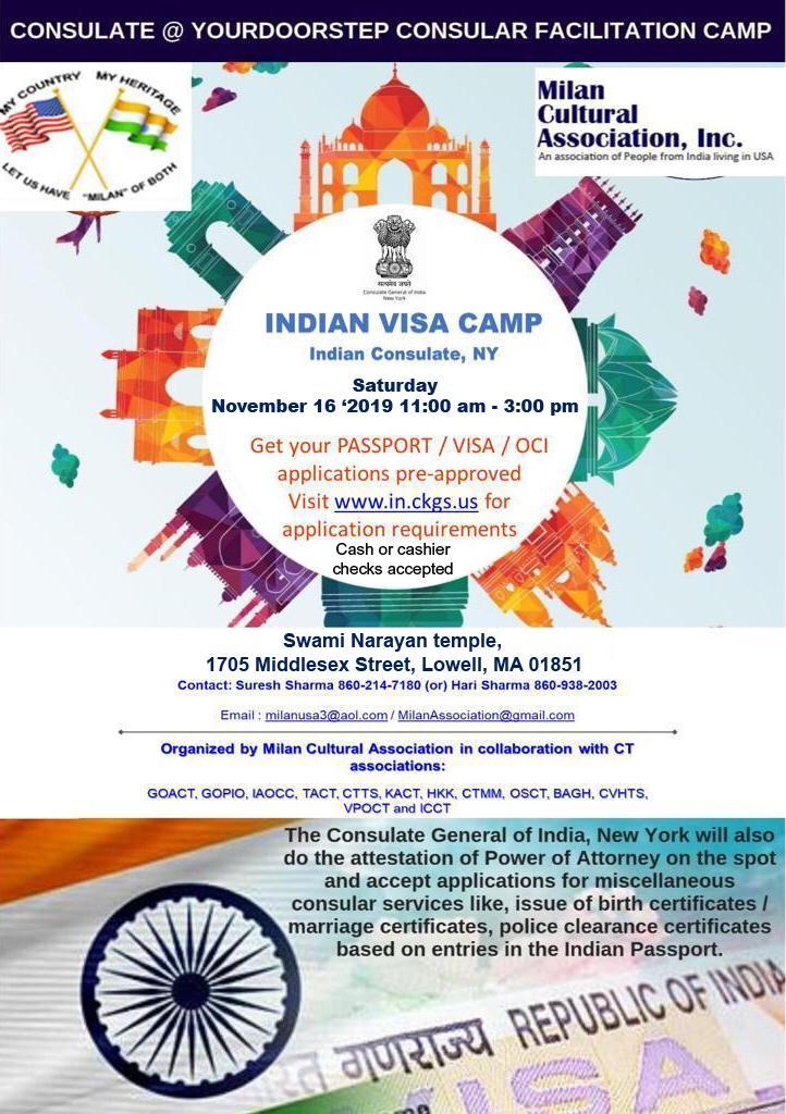 India Visa, OCI And Passport Camp