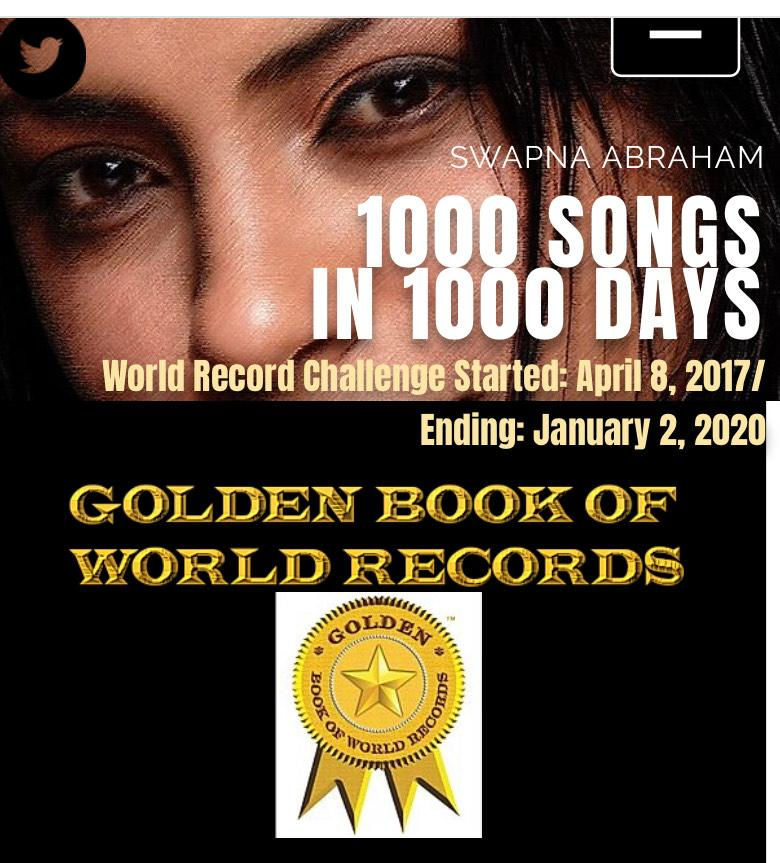 1000 Songs In 1000 Days: Swapna Abraham Setting A New World Record