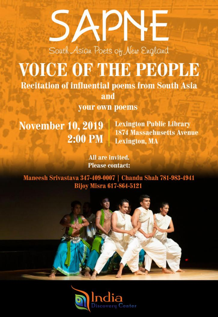 """SAPNE Poets Sing """"Voice Of The People"""""""