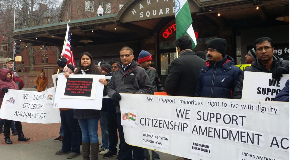 Indians In Cambridge Held A Rally In Support Of CAA