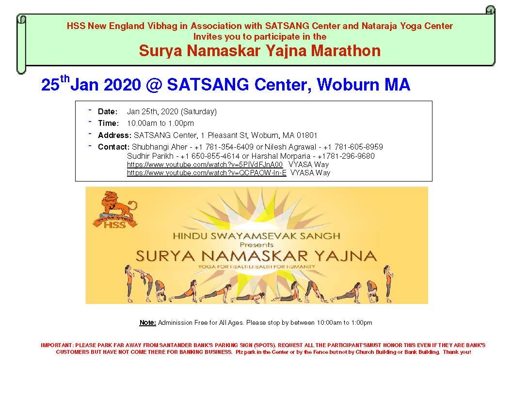 Surya Namaskar Yajna Marathon And Vasant Panchami At Satsang Center