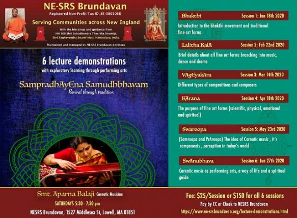 SampradAyEna Samudhbhvam - A Series Of Lecture Demonstrations!