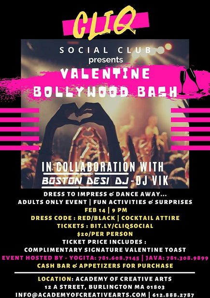 Celebrating Valentine's Day With Glitz, Glamor, Buddies And Bollywood