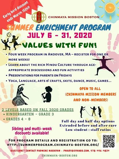 Chinmaya Mission Boston - Summer Enrichment Program