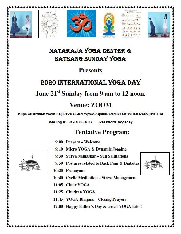 Satsang Center Presents International Yoga Day