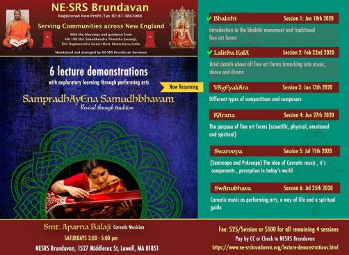 NE-SRS Presents Lecture Demonstrations By Aparna Balaji