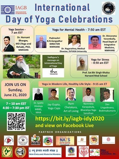 IAGB Celebrates The International Day Of Yoga With The International Community!