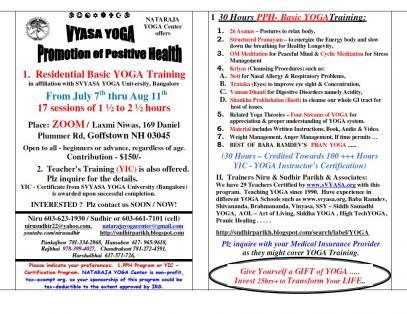 Vyasa Yoga: Promotion Of Positive Health