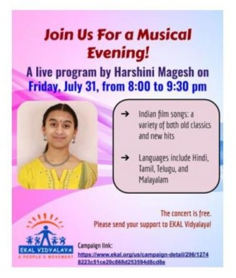 Vocal Concert By Harshini Magesh