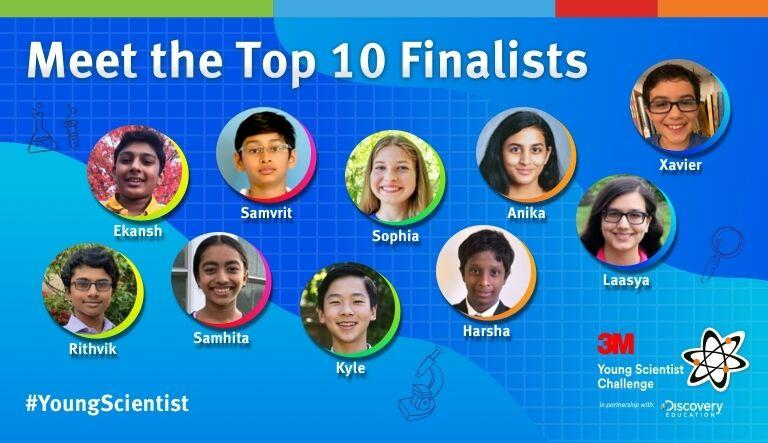 Seven Indian American Kids Named Among Ten 3M Young Scientist Challenge National Finalists
